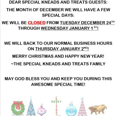 Christmas and New Year Hours!